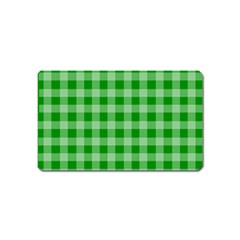Gingham Background Fabric Texture Magnet (name Card) by Jojostore