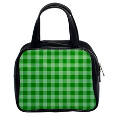 Gingham Background Fabric Texture Classic Handbags (2 Sides)