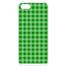 Gingham Background Fabric Texture Apple Iphone 5 Seamless Case (white)