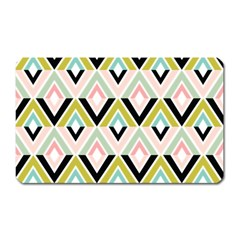 Chevron Pink Green Copy Magnet (rectangular) by Jojostore