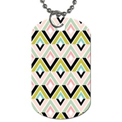 Chevron Pink Green Copy Dog Tag (two Sides) by Jojostore