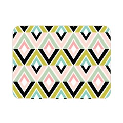 Chevron Pink Green Copy Double Sided Flano Blanket (mini)