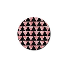 Triangle2 Black Marble & Red & White Marble Golf Ball Marker by trendistuff
