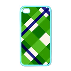 Green Plaid Apple Iphone 4 Case (color)