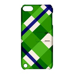 Green Plaid Apple Ipod Touch 5 Hardshell Case With Stand