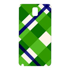 Green Plaid Samsung Galaxy Note 3 N9005 Hardshell Back Case by Jojostore