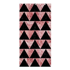 Triangle2 Black Marble & Red & White Marble Shower Curtain 36  X 72  (stall) by trendistuff