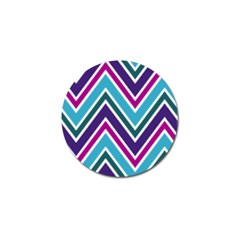 Fetching Chevron White Blue Purple Green Colors Combinations Cream Pink Pretty Peach Gray Glitter Re Golf Ball Marker (10 Pack) by Jojostore
