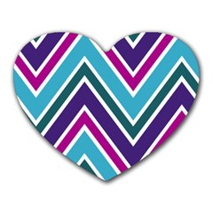 Fetching Chevron White Blue Purple Green Colors Combinations Cream Pink Pretty Peach Gray Glitter Re Heart Mousepads by Jojostore