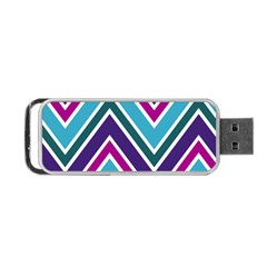 Fetching Chevron White Blue Purple Green Colors Combinations Cream Pink Pretty Peach Gray Glitter Re Portable Usb Flash (two Sides) by Jojostore