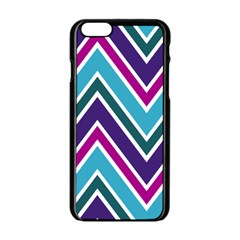 Fetching Chevron White Blue Purple Green Colors Combinations Cream Pink Pretty Peach Gray Glitter Re Apple Iphone 6/6s Black Enamel Case by Jojostore
