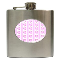 Heart Pink Valentine Day Hip Flask (6 Oz) by Jojostore