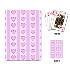 Heart Pink Valentine Day Playing Card