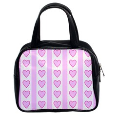 Heart Pink Valentine Day Classic Handbags (2 Sides) by Jojostore