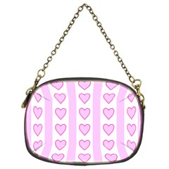 Heart Pink Valentine Day Chain Purses (one Side)  by Jojostore