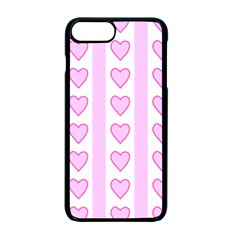 Heart Pink Valentine Day Apple Iphone 7 Plus Seamless Case (black) by Jojostore