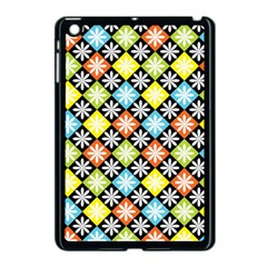 Diamond Argyle Pattern Flower Apple Ipad Mini Case (black)