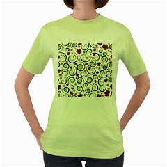 Leaf Back Purple Copy Women s Green T-shirt