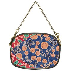 Floral Red Blue Flower Chain Purses (one Side)  by Jojostore