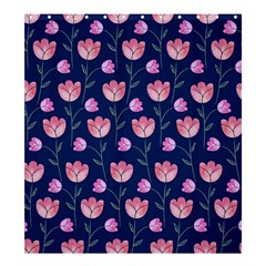 Flower Tulip Floral Pink Blue Shower Curtain 66  X 72  (large)