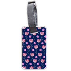 Flower Tulip Floral Pink Blue Luggage Tags (two Sides) by Jojostore