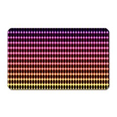 Halftone Pattern Rainbow Magnet (rectangular) by Jojostore