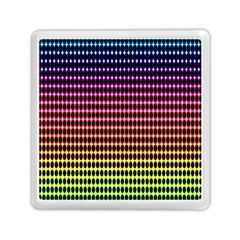 Halftone Pattern Rainbow Memory Card Reader (square)