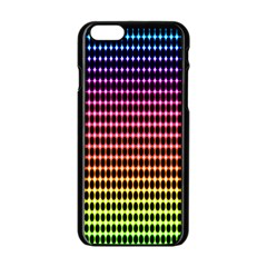 Halftone Pattern Rainbow Apple Iphone 6/6s Black Enamel Case