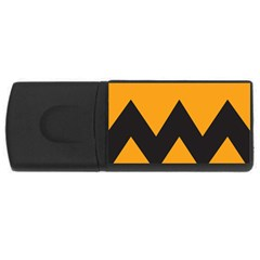 Minimal Modern Simple Orange Usb Flash Drive Rectangular (4 Gb)
