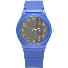 Minimalism Grey Background Round Plastic Sport Watch (s) by Jojostore