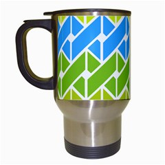 Link Pattern Travel Mugs (white) by Jojostore