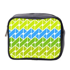 Link Pattern Mini Toiletries Bag 2 Side