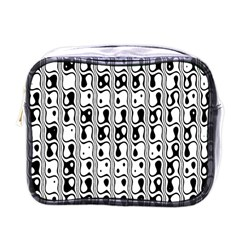 Line Black Mini Toiletries Bags