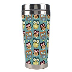 Owl Eye Blue Bird Copy Stainless Steel Travel Tumblers