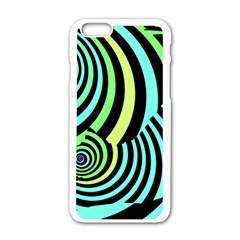 Optical Illusions Checkered Basic Optical Bending Pictures Cat Apple Iphone 6/6s White Enamel Case by Jojostore