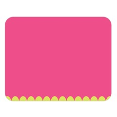 Pink Yellow Double Sided Flano Blanket (large)