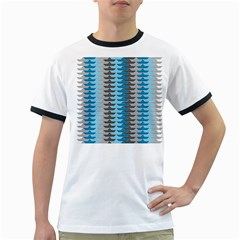 Pattern Boats Background Ship Ringer T-shirts by Jojostore