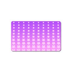 Purple And Pink Stars Line Magnet (name Card) by Jojostore