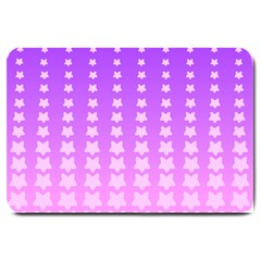 Purple And Pink Stars Line Large Doormat