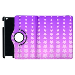 Purple And Pink Stars Line Apple Ipad 3/4 Flip 360 Case by Jojostore