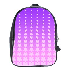 Purple And Pink Stars Line School Bags (xl)