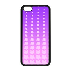 Purple And Pink Stars Line Apple Iphone 5c Seamless Case (black) by Jojostore