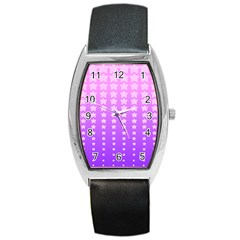 Purple And Pink Stars Barrel Style Metal Watch by Jojostore