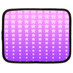 Purple And Pink Stars Netbook Case (large)