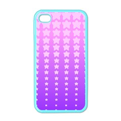 Purple And Pink Stars Apple Iphone 4 Case (color) by Jojostore