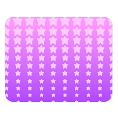 Purple And Pink Stars Double Sided Flano Blanket (large)