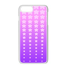 Purple And Pink Stars Apple Iphone 7 Plus White Seamless Case