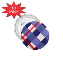 Red And Purple Plaid 1 75  Buttons (10 Pack) by Jojostore