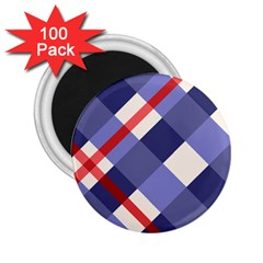 Red And Purple Plaid 2 25  Magnets (100 Pack)