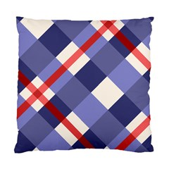 Red And Purple Plaid Standard Cushion Case (two Sides)